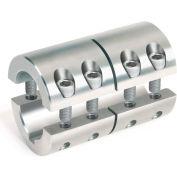 """2-Piece Industry Standard Clamping Couplings w/Keyway, 1-1/8"""", Stainless Steel"""