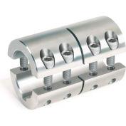 Metric Two-Piece Standard Clamping Couplings w/Keyway, 16mm, Stainless Steel