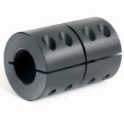"1-Piece Clamping Couplings Recessed Screw, 1-1/4"", Black Oxide Steel"