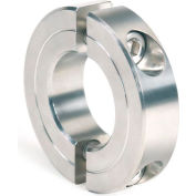 "Two-Piece Clamping Collar Recessed Screw, 1-3/8"", Stainless Steel"