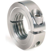 One-Piece Threaded Clamping Collar, Stainless Steel, ISTC-043-20-S