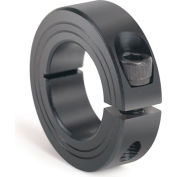 Metric One-Piece Clamping Collar, 22mm, Black Oxide Steel