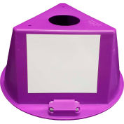 Inventory Control Cone W/ Magnets & Dry Erase Decals, Purple