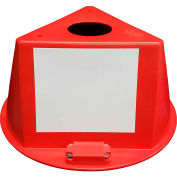 Inventory Control Cone W/ Magnets & Dry Erase Decals, Red