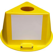 Inventory Control Cone W/ Magnets & Dry Erase Decals, Yellow