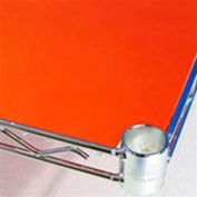 PVC Shelf Liners 12 x 72, Orange (2 Pack)