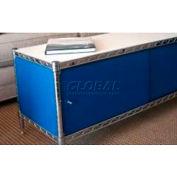 Enclosure Kit - Slide Door 24 x 48 x 18, Blue