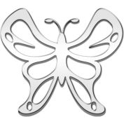 Cruiser Accessories Butterfly Automotive Decal, Chrome - 83303