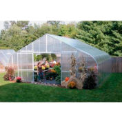 34x12x48 Solar Star Greenhouse w/Poly Ends and Drop-Down Sides, Prop Heater