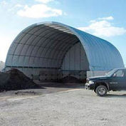 Econoline Storage Building 30'W x 15'H x 90'L White Pony Wall