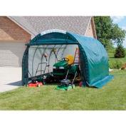 Mini Garage/Storage Shed 10'W x 8'H x 18'L Gray