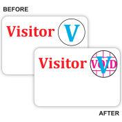 """Up de C-Line® temps! Badge de visiteur automatique expirant, un jour un insigne, 3 """"x 2"""", 100/boîte blanche,"""