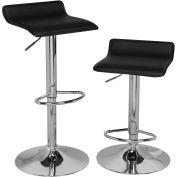OneSpace Adjustable Height Bar Stool - Black - Set of 2