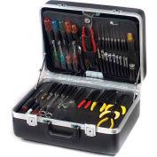 """CH Ellis Chicago Case XLST61, 2 Pocket Pallet Tool Case, 18-1/2""""L x 13-1/2""""W x 6-1/2""""H, Black"""