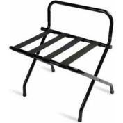 Luxury High Back Black Luggage Rack with Black Straps - 6 Pack - Pkg Qty 6