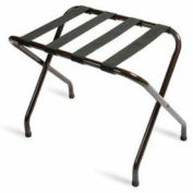 Flat Top Walnut Luggage Rack with Black Straps, 1 Pack