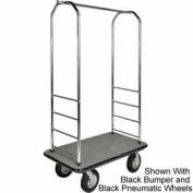 """Easy Mover Bellman chariot Chrome, tapis gris, gris pare-chocs, Poly 8"""""""