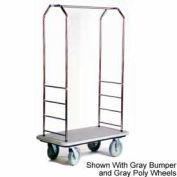 "Easy Mover Bellman chariot inox, tapis gris, noir pare-chocs, 8"" gris"