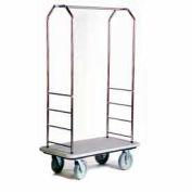 "Easy Mover Bellman chariot inox, tapis gris, gris pare-chocs, 8"" gris"