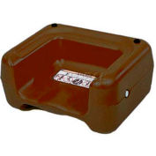 Koala Kare® Booster Seat, Dual Heights, Extra Wide Base, Brown, 1-Pack