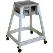 Koala Kare® KidSitter™ High Chair with Casters, Gray Frame/Black Seat