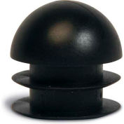 "Replacement Round Foot Plug, 1"", Black"