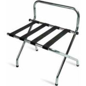 High Back Zinc Luggage Rack with Black Straps, 6 Pack - Pkg Qty 6