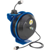 Coxreels EZ-PC13-5012-A Safety Spring Rewind Power Cord Reel Single Industrial recept 50' Cord 12AWG