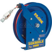 Coxreels EZ-SD-50-1 Safety Spring Rewind Static Discharge Cord Reel, 50' Cord, w/50A Ground Clamp