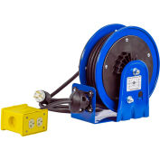 Coxreels PC10-3012-B Compact Efficient Heavy Duty Power Cord Reel w A Quad 4 Plug Industrial 12Ga