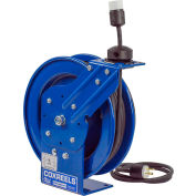 Coxreels PC13-5012-A Power Cord Spring Rewind Reel: Single Industrial Receptacle, 50' Cord, 12 AWG