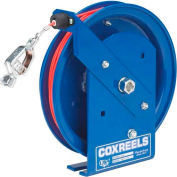 Coxreels SD-75-1 Spring Rewind Static Discharge Cable Reel, 75' Stainless Steel Cable