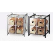 "Cal-Mil 1146-13 One by One 4 Drawer Bread Case 14""W x 14-3/4""D x 15-3/4""H Black"