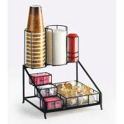 "Cal-Mil 1453 Iron Coffee Condiment Display 12""W x 10-1/2""D x 14-1/2""H"