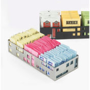 """Cal-Mil 1611-55 Squared Packet Organizer 9-1/4""""W x 4-1/2""""D x 2""""H Stainless Steel"""