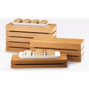 "Cal-Mil 1943-11-60 Bamboo Rectangle Crate Riser 20""W x 7""D x 11""H"