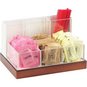 """Cal-Mil 3013-55 Luxe Condiment and Stir Stick Organizer White and SS 8-3/4""""W x 6""""D x 5""""H"""