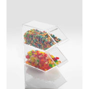 "Cal-Mil 492-N Classic Stackable Topping Dispenser With Notch 4-1/2""W x 11""D x 5-1/2""H - Pkg Qty 2"