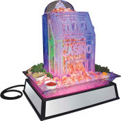 "Cal-Mil IP101-110 Small Mirror Ice Carving Pedestal with LED Feature 19""W x 27""D x 10""H 110V"