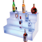 "Cal-Mil LQ31 LED 3 Step Bottle Display 18""L x 30""W x 18""H"