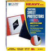 C-Line produits traditionnels polypropylène feuille Protector, poids lourd, 11 x 8 1/2, 50/BX