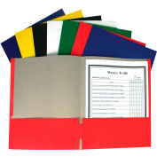 C-Line Products Recycled Two-Pocket Paper Portfolios, Assorted Color - 100/Set