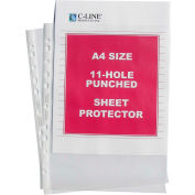C-Line Products Heavyweight Polypropylene Sheet Protector, A4 SIZE, Clear, 11 3/4 x 8 1/4, 50/BX - Pkg Qty 2
