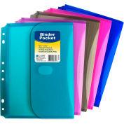 C-Line Products Mini Size Binder Pocket, Side Loading, Assorted Colors, 36 Pockets/Set