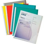 C-Line produits vinyle rapport couvre w / barres de liaison, assorties, blanc reliure Bars, 11 x 8 1/2, 50/BX
