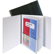 C-Line Products 8-Pocket Portfolio with Security Flap, Black/White, 12 Portfolios/Set