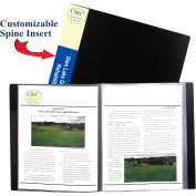 C-Line Products 12-Pocket Bound Sheet Protector Presentation Book, Black - Pkg Qty 6