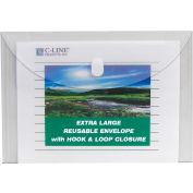 """Produits de la gamme C Biodégradables &Enveloppes poly à charge latérale réutilisables, 11""""W x 8-1/2""""H, Clair, Pack de 25"""