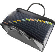 C-Line Products Expanding File with Handles, Black, 1/EA