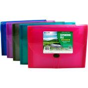 C-Line Products Biodegradable 13-Pocket Letter Size Expanding File, Assorted Colors, 12 Files/Set